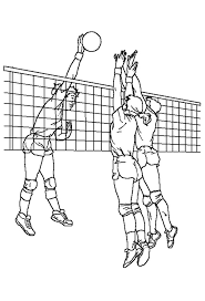 Free Printable Volleyball Match Coloring Page For Download Also Print