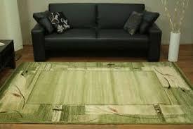 teppich standard erba chrom grün wohnzimmer kurzflor design