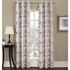 Boscovs Blackout Curtains by Orson Scroll Print Grommet Panel Boscov U0027s