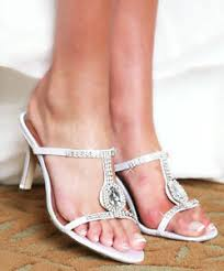 Image Is Loading White Dyeable Austrian Crystal Prom Bridal High Heel