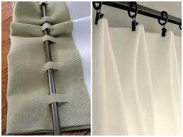 No sew curtains just hot glue ribbon to the sheet so you can