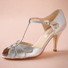 silver wedding shoes glitter pumps mimosa t straps buckle closure