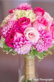 indian wedding boquet pink petals