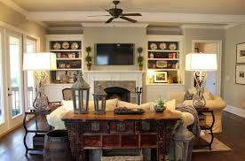 Decorating Living Room Shelves Rustic Style