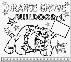 Superb Georgia Bulldogs Coloring Pages With Bulldog And