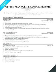 Medical Office Administrator Resume Objective For Manager Front Administrato Administrative Support Example