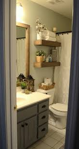 Half Bathroom Decorating Ideas Pictures by Best 25 Bathroom Shelves Ideas On Pinterest Half Bath Decor