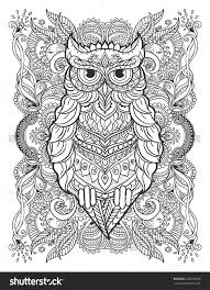 Beautiful Illustration Owl For Design Print Clothing Stickers Tattoos Adult Coloring Book Bohemian Lace