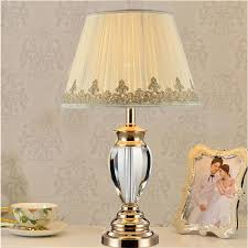 American Rustic Style Cast Iron Table Lights Bedroom Bedside Lamps With Shade LED Lamp