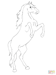 Printable Bella Sara Horse Coloring Pages Click Rearing View Free Race Realistic Full Size
