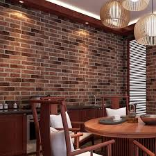 Removable Self Adhesive PVC 3D Vintage Brick Wallpaper For Living Room Kitchen Waterproof Wall Sticker Home Decor Decal 100x45cm In Stickers From