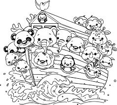 Nice Noah S Ark Cartoon Coloring Wecoloringpage Inside Noahs