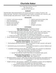 Example Of Retail Resume Examples For Sales Template Luxury