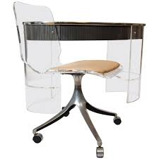 Acrylic Desk Chair On Casters by Chrome Metal Based Swivel Chair With Wheels And Acrylic High