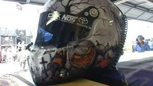 Sirius Xm Halloween Radio Station 2014 by Kyle Busch Rocking Halloween Helmet At Kansas Nascar Com