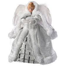 Black Angel Christmas Tree Topper Uk by Werchristmas Angel Christmas Tree Topper With Feather Wings 26 Cm
