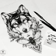 Beautiful Wolf Tattoo Design Definitely One To Consider