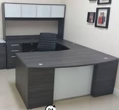 Realspace Broadstreet Contoured U Shaped Desk Dimensions by Chiarezza U Shaped Bow Front Desk W Glass And 50 Similar Items