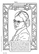 Related Resources BIOGRAPHY Rosa Parks Coloring Page