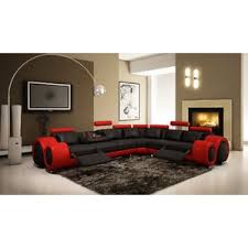 red sectional sofas you ll love wayfair