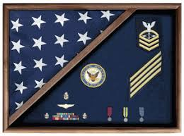 Walnut Flag Memorial Case