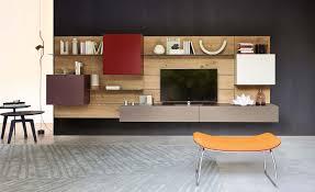 wohnzimmer individuell einrichten mit modernen wohnwänden