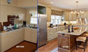 Small Kitchen Remodeling Ideas Before And After With Wood Flooring Recessed Lighting