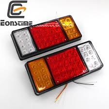 Eonstime 2pcs Rear 12V/24V Light For Truck 36 LED 2x Rear Lamps Tail ... 2 Led 4 Round Truck Trailer Brake Stop Turn Tail Lights With Red 2007 Ford F150 Upgrades Euro Headlights And Truckin 6 Oval 10 Diode Light Wgrommet Plugpigtail Amazoncom Toyota Pick Up 41988 Lens Lenses Signal Tailgate 196772 Gm Billet Digitails Close Of Tail Lights On A Fire Truck Stock Photo 3956538 Alamy New 2x Led Indicator 24v Waterproof Spyder 042012 Chevy Colorado Hilux Pickup 4x2 4x4 89 95 Clear Red 42008 Recon Smoked 264178bk W Builtin Flange 512