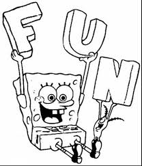 Fabulous Coloring Pages Spongebob Printable Kids Colouring With And Games