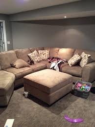Taupe Sofa Living Room Ideas by Movie Room Grey Carpet And Walls Taupe Couch Need Ideas For