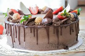 erdbeer schoko torte drip cake mit küchencottage