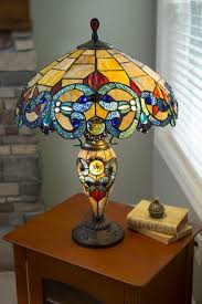 Tiffany Style Glass Torchiere Floor Lamp by Amber Glass Lamp Wayfair