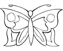 Printable Butterfly Coloring Page Pages Simple