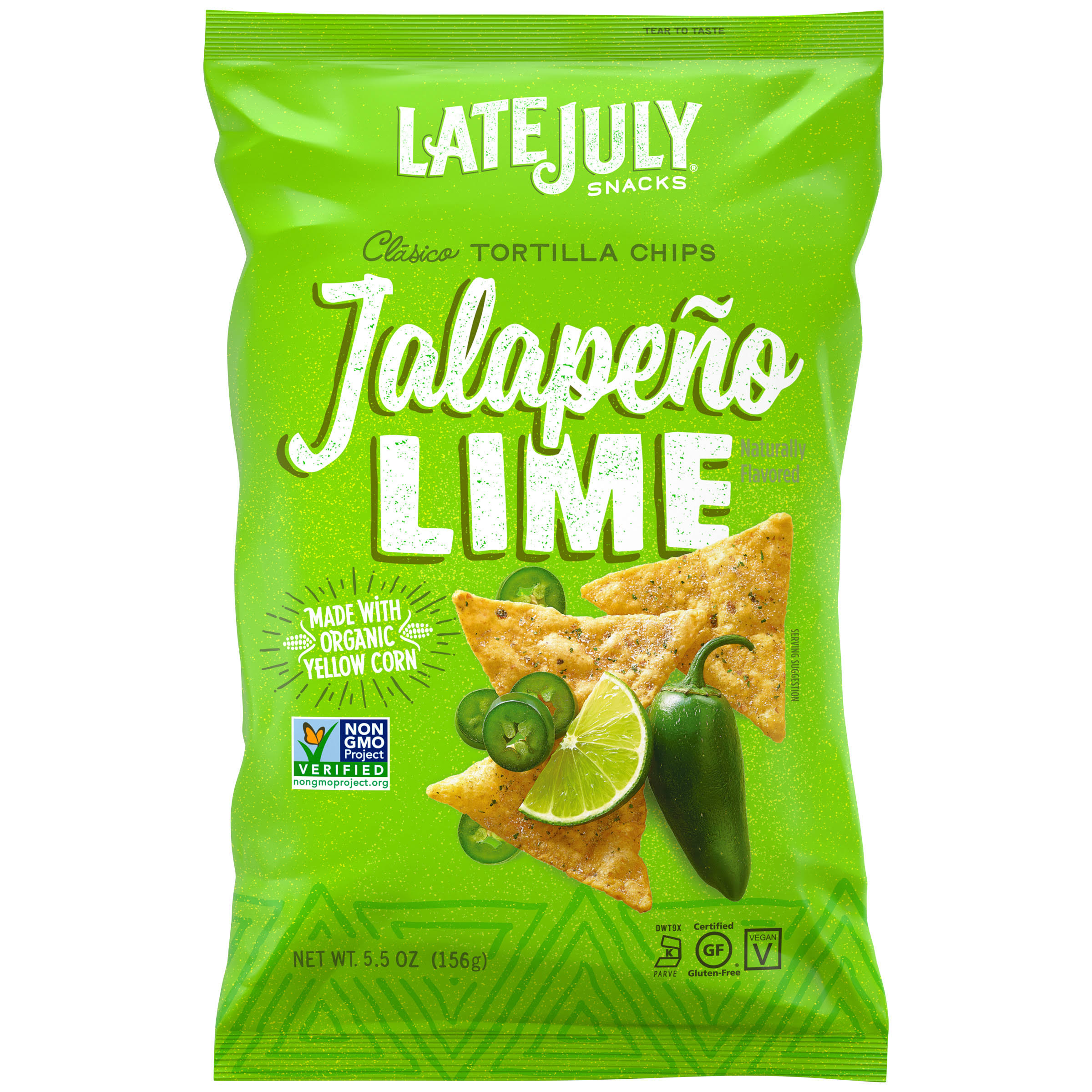 Late July Classic Tortilla Chips - Jalapeno Lime, 5.5oz