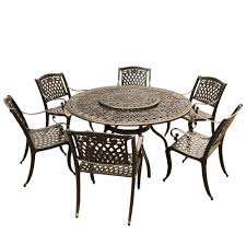 Rose Ornate Traditional 7-Piece Bronze Aluminum Round Outdoor Dining ... Bella All Weather Wicker Patio Ding Set Seats 6 Maribella White Modern Outdoor Eurway Marquesas 7pc Tortuga Polywood La Casa Cafe Commercial Collections 5piece Wrought Iron Fniture 4 12 Seater Table Kf87 Roccommunity Tommy Bahama Misty Garden French Country Glass Top Metal Roundup Emily Henderson Signature Design By Ashley Marsh Creek 7piece Dublin Ireland Lisbon 220cm 8 Seat Catalina Chairs Temple Webster