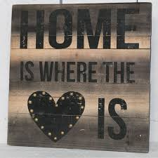 HOME IS WHERE THE HEART Sign