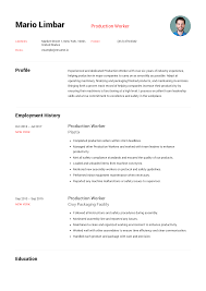 Production Worker Resume Templates 2019 (Free Download ...