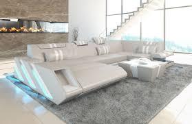 sofa wohnlandschaft apollonia u form beige weiss