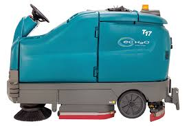 t17 battery powered ride on scrubber tennant company scrubbers