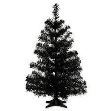 PVC 2 Black Artificial Christmas Tree