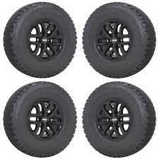 100 17 Truck Tires FORD F150 RAPTOR TRUCK BLACK WHEELS RIMS TIRES 20 2018 SET 4