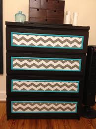 Kullen Dresser From Ikea by Ikea Malm Hack Primed And Painted Black Chevron Contact Paper