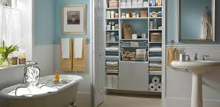 bathroom and linen closet customclosetmaid