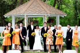 Nice Simple Wedding Themes Orange Cookies Crumbles