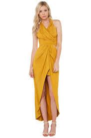 akira black label her legacy dress mustard in yellow lyst