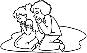 Click To See Printable Version Of Children Praying Coloring Page