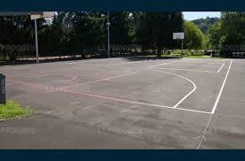 terrain de basket exterieur rhône ouest lyonnais le terrain extérieur de basket a été refait