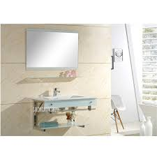 456 keramik waschtisch kombination mit spiegel badezimmer wand montiert keramik becken gehärtetem glas wand hing waschbecken schrank