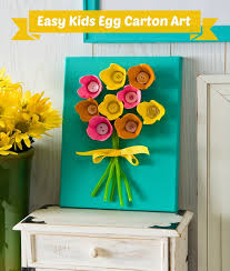 Easy Kids Craft Make Egg Carton Art