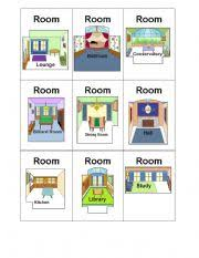 English Worksheet Clue Board Game Cards